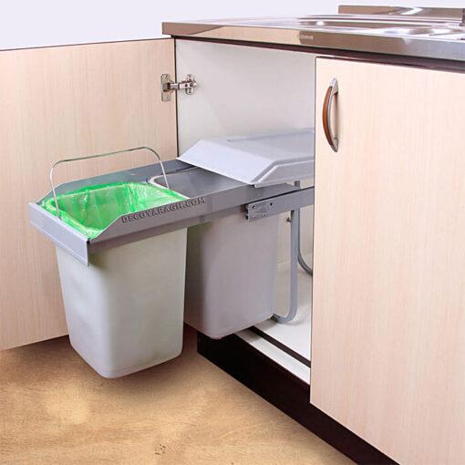 سطل زباله داخل کابینتی فراسازان در دکو یراق