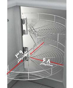سبد کابینت کنج مدل طبقه گردان
