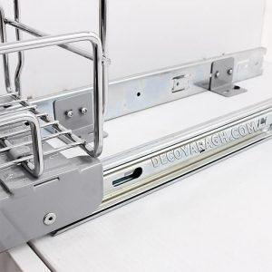 اتصال درب کابینت به سبد ریلی داخل کابینتی دو طبقه ریل کف فراسازان یونیت 25 سانت