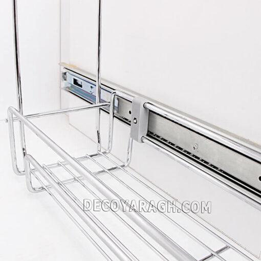 سبد کابینتی جا ادویه ای دو طبقه ریل پهلو فراسازان یونیت 20 سانت