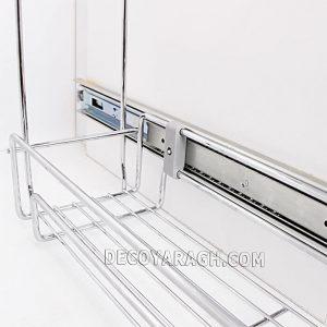 جنس سبد کابینتی جا ادویه ای دو طبقه ریل پهلو فراسازان یونیت 20 سانت