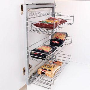 سبد ریلی آشپزخانه جا ادویه ای سه طبقه ریل پهلو F 1219