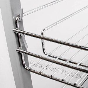 حرکت سبد روی ریل های ساچمه ای جا ادویه ای سه طبقه ریل پهلو فراسازان یونیت 30 سانت