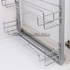 جنس سبد ادویه داخل کابینت سه طبقه ریل پهلو فراسازان یونیت 25 سانت