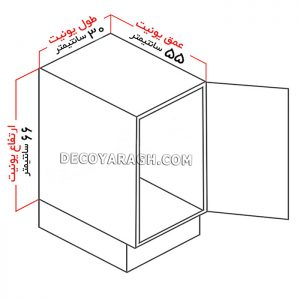 سایز کابینت مناسب برای نصب سبد جا ادویه ای