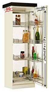 ابعاد سبد سبد لوازم کابینت آشپزخانه مدل 91178