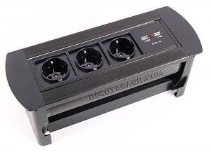 پریز برق توکار کابینت مدل 2171 مشکی