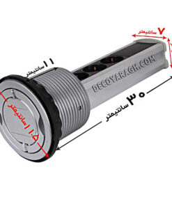 پریز توکار کابینت استوانه ای مدل 3410 الکتراسیلور