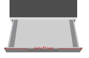 یونیت محل نصب تقسیم کننده داخل کشو یونیت 60 سانت