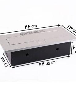 پریز توکار کابینت فانتونی مدل M052 سیلور