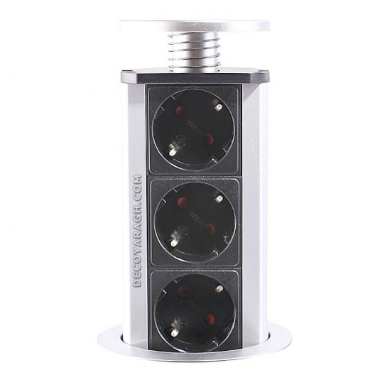 پریز توکار کابینت استوانه ای فانتونی مدل M071 سیلور