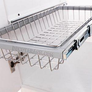 سبدهایی با جنس آبکاری مناسب برای نصب داخل کابینت سوپر مارکت دار