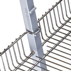 قابلیت نصب درب در سبد ریلی کابینت بلند تا سقف آشپزخانه بهینه با ارتفاع 220-200 سانت و یونیت 25-20 سانت
