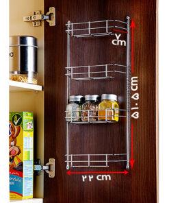 سبد جا ادویه ای 4 طبقه ثابت بهینه مدل 12 قوطی