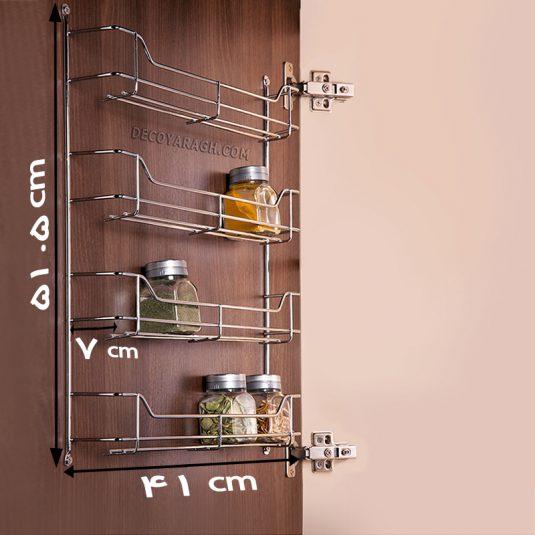 سبد جا ادویه ای 4 طبقه ثابت بهینه مدل 24 قوطی
