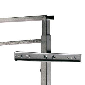 قابلیت نصب درب و تغییر ارتفاع در سبد سوپر ریل وسط بهینه با ارتفاع 85-60 سانت و یونیت 60-55 سانت