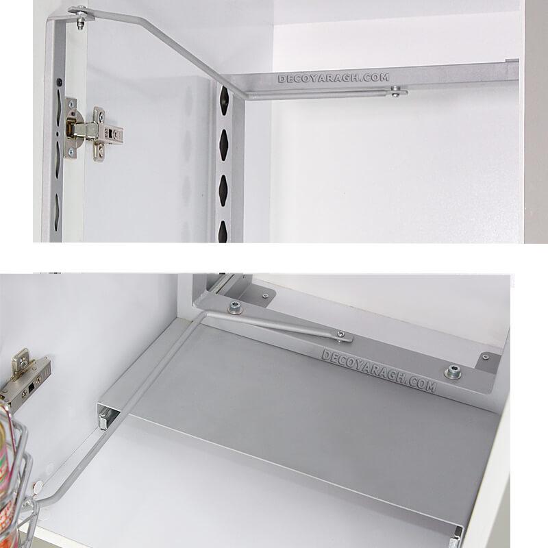 اتصال طبقات داخلی سبد سوپر مدل یخچالی A628 به درب کابینت