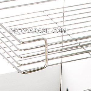 تجهیزات داخل کابینت و سبد سوپری یخچالی و کیفیت یراق موجود در آن
