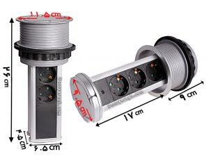 پریزتوکار کابینت ملونی مدل الکترا ساده سیلور
