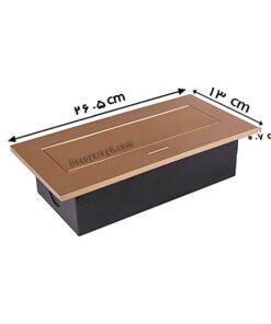 پریز توکار کابینت ملونی مدل 10024 طلایی