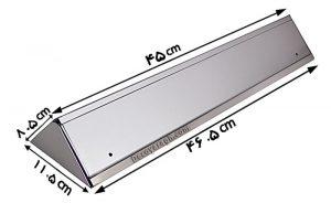 ابعاد پریز روکار کابینت ملونی مدل 10010 سیلور