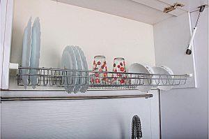 آبچکان داخل کابینت آشپزخانه فلزی آبکاری یونیت 100 سانت