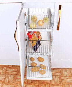 سبد سیب زمینی و پیاز سه طبقه فراسازان یونیت 40 سانت