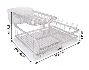 ابعاد آبچکان رومیزی آلومینیومی مدل A۱۱۰۷