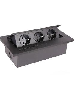 پریز توکار کابینت فانتونی مدل N352 مشکی