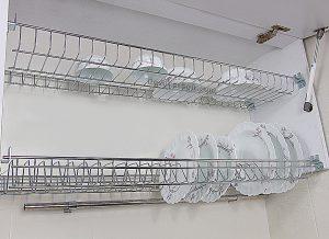 آبچکان دو طبقه ی آبکاری برای کابینت های 90 سانتی متری