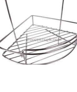 سبد آویز کنج حمام سه طبقه مدل AS925 استیل