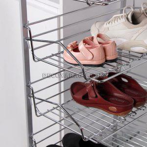 جای کفش داخل کمد استیل