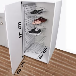 یونیت کمد محل نصب جا کفشی سه طبقه ریل پهلو بهینه