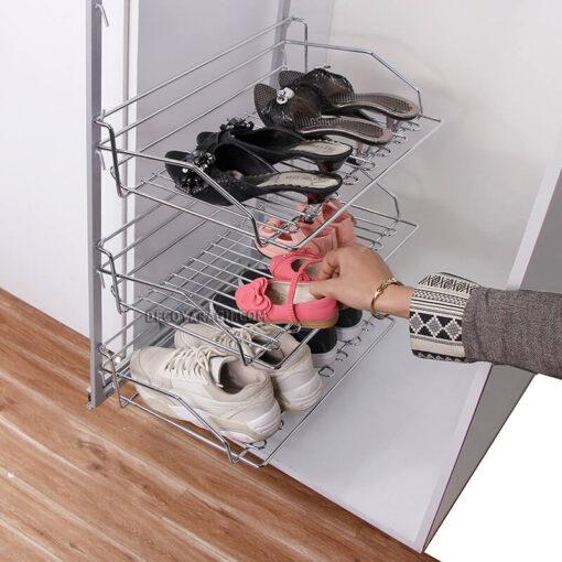 جا کفشی سه طبقه ریل پهلو بهینه
