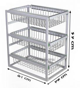 ابعاد سبد چند منظوره ریلی و سه طبقه A363