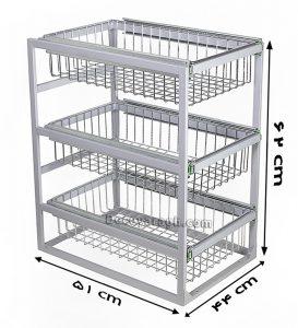 سبد ریلی چند منظوره سه طبقه مدل A364 یونیت 50 سانت