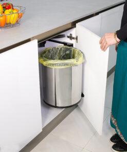 سطل زباله گرد استیل در بازشو مدل A843