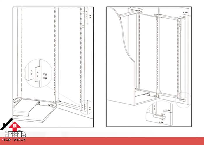 انتقال کامل وزن از روی درب کابینت به بدنه ی کابینت