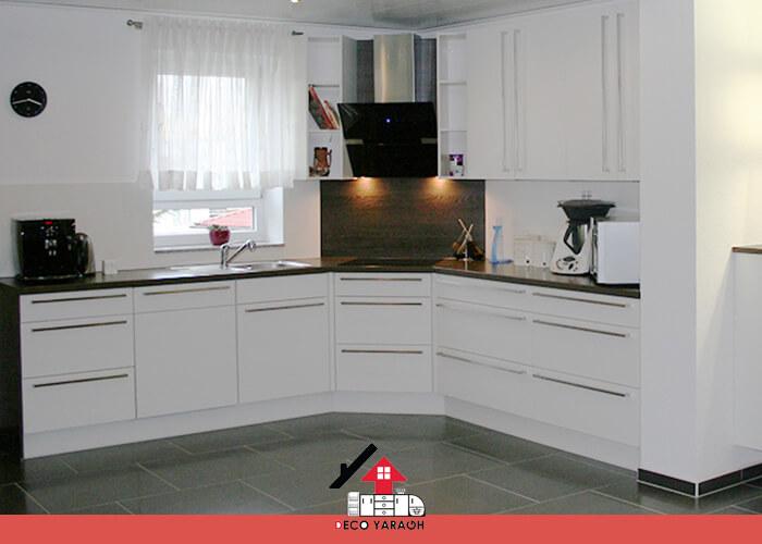 نصب اجاق گاز روی کانتر کابینت کنج آشپزخانه