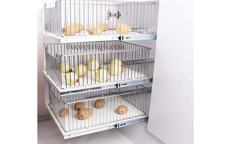 نصب سبد سیب زمینی داخل کابینت