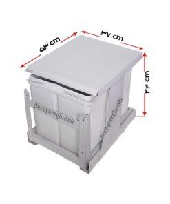 سطل زباله دوقلو داخل کابینت مدل 816
