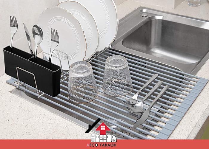 سبد های خشک کننده ظروف روی لگن سینک ظرفشویی