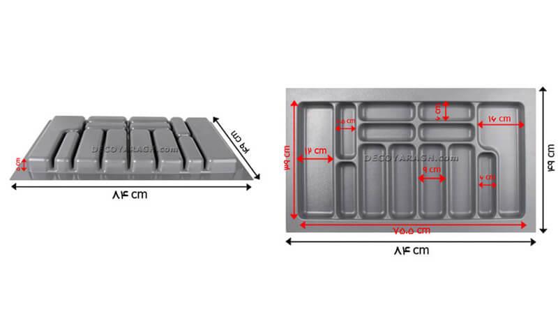 ابعاد تقسیم کننده کشو آشپزخانه 9032 یونیت 90 سانت - دکویراق