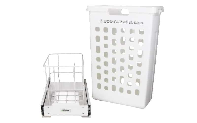سبد پلاستیکی قابل شست و شو و چارچوب فلزی سبد لباس چرک ریلی ملونی 9153