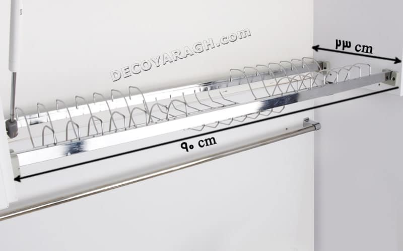 ابعاد دقیق کابینت مناسب نصب آبچکان پروفیل دار یونیت 90 سانت
